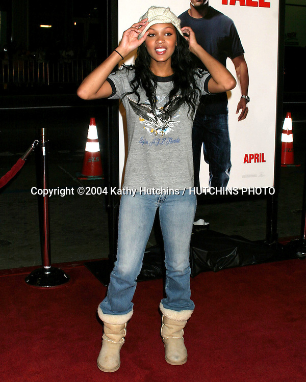 """©2004 KATHY HUTCHINS / HUTCHINS PHOTO.PREMIERE OF """" WALKING TALL """".GRAUMAN'S CHINESE THEATER.HOLLYWOOD, CA.MARCH 29, 2004..DWAYNE """"THE ROCK"""" JOHNSON.WIFE"""