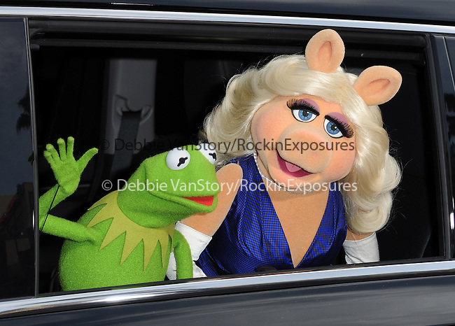 Muppets attend Disney's Muppets Most Wanted World Premiere held at The El Capitan Theatre in Hollywood, California on March 11,2014                                                                               © 2014 Hollywood Press Agency
