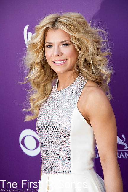 Kimberly Perry of The Band Perry attends the 48th Annual Academy of Country Music Awards in Las Vegas, Nevada on April 7, 2012.