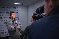 Rotterdam, Netherlands, 12 februari, 2017, ABNAMROWTT,  Interview with Thomas Berdych  <br /> Photo: Henk Koster