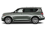 Driver side profile view of a 2011 Infiniti QX56.