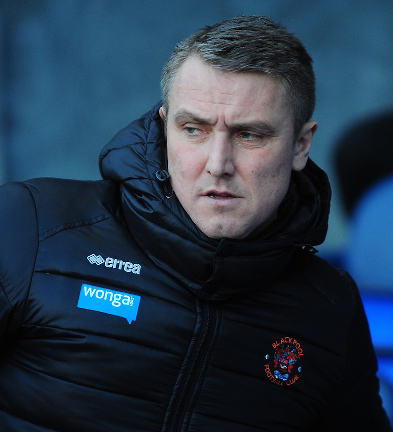 Blackpool manager Lee Clark  <br /> <br /> Photographer Chris Vaughan/CameraSport<br /> <br /> Football - The Football League Sky Bet Championship - Blackburn Rovers v Blackpool - Saturday 21st February 2015 - Ewood Park - Blackburn<br /> <br /> &copy; CameraSport - 43 Linden Ave. Countesthorpe. Leicester. England. LE8 5PG - Tel: +44 (0) 116 277 4147 - admin@camerasport.com - www.camerasport.com