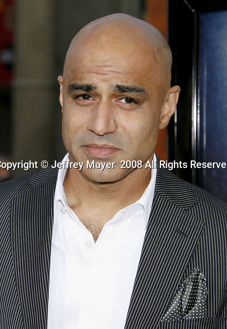 "Actor Faran Tahir arrives to the ""Iron Man"" premiere at Grauman's Chinese Theatre on April 30, 2008 in Hollywood, California."