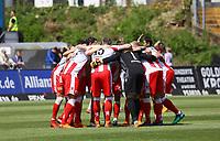 Union Berlin schwoert sich ein - 28.04.2018: SV Darmstadt 98 vs. 1. FC Union Berlin, Stadion am Boellenfalltor, 32. Spieltag 2. Bundesliga