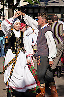 Folk dancing at Vilnius,Lithuania