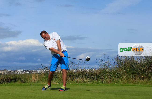 Ben Best (Rathmore) on the 4th fairway during Round 3 of Matchplay in the North of Ireland Amateur Open Championship at Portrush Golf Club, Portrush on Thursday 14th July 2016.<br /> Picture:  Thos Caffrey / www.golffile.ie