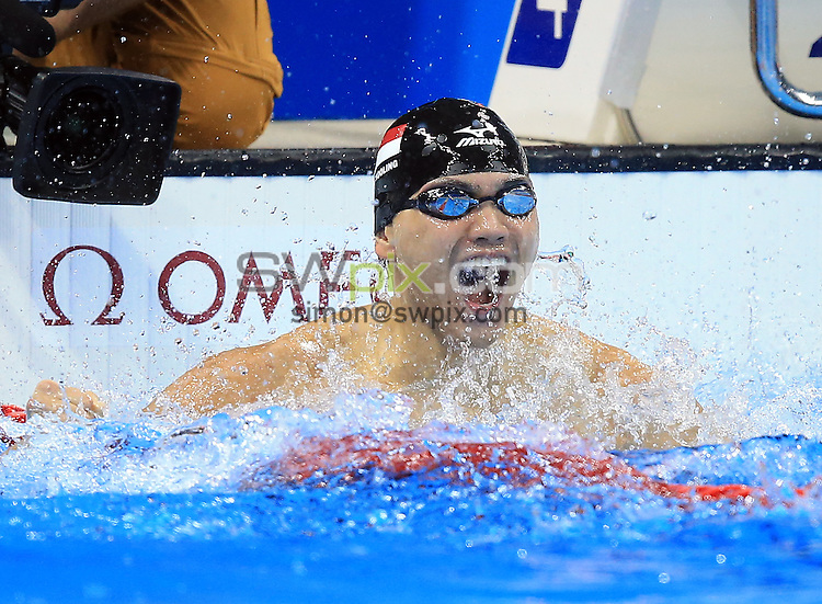 RIO DE JANEIRO, BRAZIL - AUGUST 12:  Joseph Schooling of Singapore wins Gold in the Men's 100m Butterfly Final on Day 7 of the Rio 2016 Olympic Games at the Olympic Aquatics Stadium on August 12, 2016 in Rio de Janerio, Brazil.  (Photo by Vaughn Ridley/SWpix.com)
