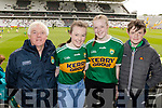 Joe, Caragh, Aisling and Thomas Kelly, Listowel,  pictured  at the Kerry v Cork Munster Final held at Páirc Uí Chaoimh, Cork, on Saturday evening last.​