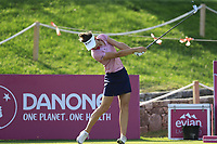 Sarah Jane Smith (AUS) tees off the 6th tee during Thursday's Round 1 of The Evian Championship 2018, held at the Evian Resort Golf Club, Evian-les-Bains, France. 13th September 2018.<br /> Picture: Eoin Clarke | Golffile<br /> <br /> <br /> All photos usage must carry mandatory copyright credit (&copy; Golffile | Eoin Clarke)