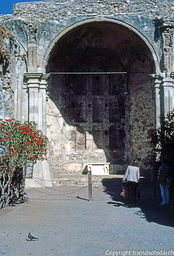 California Missions: Mission San Juan Capistrano Church, 1797-1806. (Earthquake) Photo '80.
