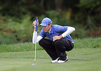 22 May, 2010:   Middle Tennessee States Brad Simons check his shot on hole ten during day three of the first round of the NCAA West Regionals at Gold Mountain Golf course in Bremerton, WA.