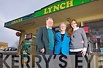 Patrick and Joan Lynch with their daughter Edel who have closed their doors on the roadside filling station and grocer which was opened in 1946, pictured here in Tarbert on New Years Day.