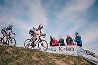 Elite Men CX World Champion Wout van Aert (BEL/Cibel-Cebon) followed closely by Michael Vanthourenhout (BEL/Marlux-Bingoal)<br /> <br /> GP Mario De Clercq / Hotond cross 2018 (Ronse, BEL)<br /> photo &copy;kramon