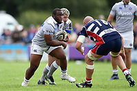 Beno Obano of Bath Rugby in possession. Pre-season friendly match, between Bristol Rugby and Bath Rugby on August 12, 2017 at the Cribbs Causeway Ground in Bristol, England. Photo by: Patrick Khachfe / Onside Images
