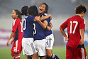 (L to R) Asano Nagasato, Azusa Iwashimizu, Asuna Tanaka (JPN), September 11, 2011 - Football / Soccer : Women's Asian Football Qualifiers Final Round for London Olympic Match between Japan 1-0 China at Jinan Olympic Sports Center Stadium, Jinan, China. (Photo by Daiju Kitamura/AFLO SPORT) [1045]