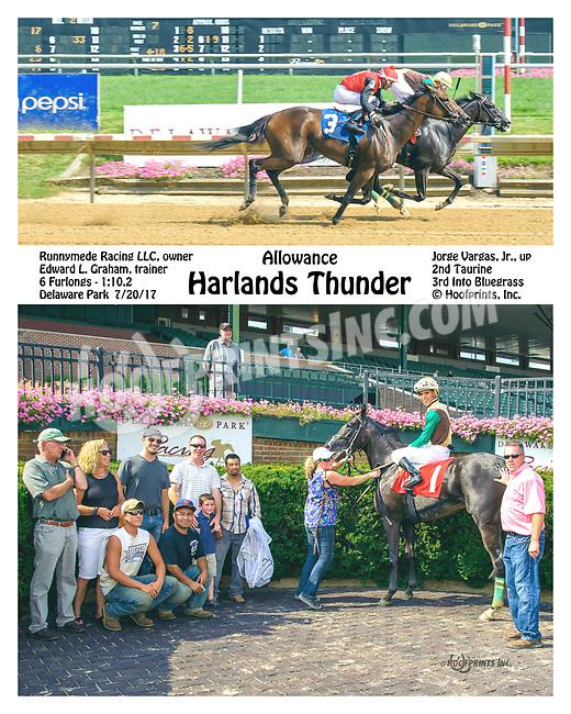 Harlands Thunder winning at Delaware Park on 7/20/17