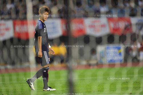 Yoichiro Kakitani (JPN),<br /> AUGUST 14, 2013 - Football / Soccer :<br /> Kirin Challenge Cup 2013 match between Japan 2-4 Uruguay at Miyagi Stadium in Miyagi, Japan. (Photo by Takahisa Hirano/AFLO)