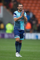 Paul Hayes of Wycombe Wanderers during the Sky Bet League 2 match between Blackpool and Wycombe Wanderers at Bloomfield Road, Blackpool, England on 20 August 2016. Photo by James Williamson / PRiME Media Images.