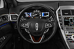 Car pictures of steering wheel view of a 2017 Lincoln MKZ Hybrid-Select 4 Door Sedan Steering Wheel