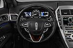 Car pictures of steering wheel view of a 2017 Lincoln MKZ Hybrid-Select 4 Door Sedan Steering Wheel