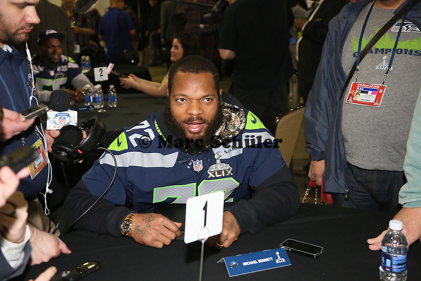 DE Michael Bennett (Seahawks)- Super Bowl XLIX Seattle Seahakws Team-PK, Arizona Grand Hotel