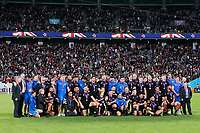 1st November 2019, Tokyo, Japan;  New Zealand team group thanks the fans after their win;  2019 Rugby World Cup 3rd place match between New Zealand 40-17 Wales at Tokyo Stadium in Tokyo, Japan.  - Editorial Use