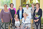 The new Killarney Soroptimist President Teresa Irwin with the outgoing President Noeleen O'Sullivan back row l-r: Sheila Casey, Anne Lucey, Peggy Richert, Catherine McMullin, Catherine Gleeson, Claire Bowler at their annual dinner in the Gleneagle Hotel on Tuesday evening