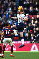 Jan Vertonghen of Tottenham Hotspur and Ayoze Perez of Newcastle United during Tottenham Hotspur vs Newcastle United, Premier League Football at Wembley Stadium on 2nd February 2019