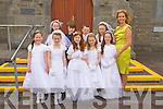 Pupils from Fenit National school who received their First Holy Communion in Churchill Church, on Saturday were front l-r: Shona O'Connor, Muireann Finn, Clodagh Hickey, Lauren Chute and Emma Farrelly. Back l-r: Ellen Murphy, Rowan O'Neill, Dylan Ryan and Aisling O'Connell.