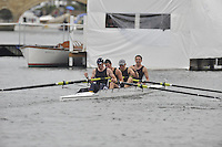 Henley, GREAT BRITAIN,  Finals TYNE RC. Bow, Will FLETCHER, Stuart McCLUSKY, James HARRIS and Kieran EMERY. 2008 Henley Royal Regatta, on  Sunday, 06/07/2008,  Henley on Thames. ENGLAND. [Mandatory Credit:  Peter SPURRIER / Intersport Images] Rowing Courses, Henley Reach, Henley, ENGLAND . HRR
