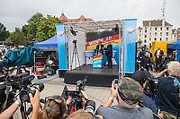 """Wahlkampfauftaktveranstaltung der rechten """"Alternative fuer Deutschland"""", AfD, in Brandenburg am Samstag den 13. Juli 2019 im brandenburgischen Cottbus zur Landtagswahl am 1. September mit dem brandenburger Landesvorsitzenden Andreas Kalbitz, dem saechsichen Landesvorsitzenden Joerg Urban, Thueringens AfD-Chef Bjoern Hoecke und dem Parteivorsitzenden Joerg Meuthen. Die drei Landesvorsitzenden sind Anhaenger der rechtsextremen AfD-Gruppierung """"Fluegel"""" um Bjoern Hoecke, die vom Verfassungsschutz geprueft wird.<br /> Im Bild: Der Parteivorsitzende Joerg Meuthen.<br /> 13.7.2019, Berlin<br /> Copyright: Christian-Ditsch.de<br /> [Inhaltsveraendernde Manipulation des Fotos nur nach ausdruecklicher Genehmigung des Fotografen. Vereinbarungen ueber Abtretung von Persoenlichkeitsrechten/Model Release der abgebildeten Person/Personen liegen nicht vor. NO MODEL RELEASE! Nur fuer Redaktionelle Zwecke. Don't publish without copyright Christian-Ditsch.de, Veroeffentlichung nur mit Fotografennennung, sowie gegen Honorar, MwSt. und Beleg. Konto: I N G - D i B a, IBAN DE58500105175400192269, BIC INGDDEFFXXX, Kontakt: post@christian-ditsch.de<br /> Bei der Bearbeitung der Dateiinformationen darf die Urheberkennzeichnung in den EXIF- und  IPTC-Daten nicht entfernt werden, diese sind in digitalen Medien nach §95c UrhG rechtlich geschuetzt. Der Urhebervermerk wird gemaess §13 UrhG verlangt.]"""