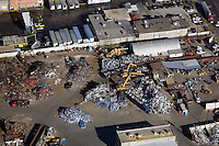 aerial photograph of metal recycling, Dallas, Texas