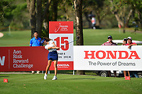 PATTAYA, THAILAND - FEBRUARY 22: Muni He of China on the 15th tee during the second round of the Honda LPGA Thailand 2019 at Siam Country Club Pattaya (Old Course), Pattaya, Thailand on February 22, 2019.<br /> .<br /> .<br /> .<br /> (Photo by: Naratip Golf Srisupab/SEALs Sports Images)<br /> .<br /> Any image use must include a mandatory credit line adjacent to the content which should read: Naratip Golf Srisupab/SEALs Sports Images
