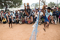 Chin Lone, traditional sport in Myanmar played with a bamboo ball, Pindaya Cave Festival