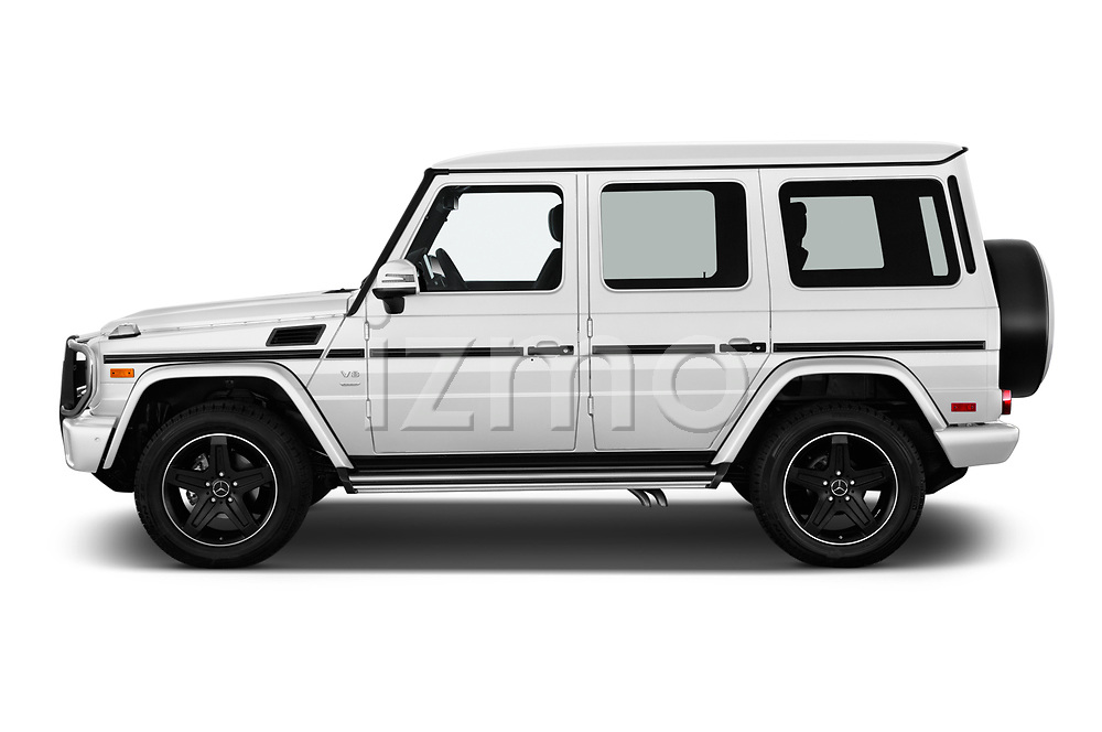 Car driver side profile view of a 2018 Mercedes Benz G-Class G550 5 Door SUV