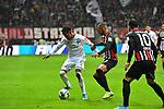 06.10.2019, Commerzbankarena, Frankfurt, GER, 1. FBL, Eintracht Frankfurt vs. SV Werder Bremen, <br /> <br /> DFL REGULATIONS PROHIBIT ANY USE OF PHOTOGRAPHS AS IMAGE SEQUENCES AND/OR QUASI-VIDEO.<br /> <br /> im Bild: Theodor Gebre Selassie (#23, SV Werder Bremen) gegen Djibril Sow (Eintracht Frankfurt #8)<br /> <br /> Foto © nordphoto / Fabisch
