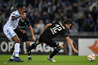 Wallace of Lazio and Kevin STrootman of Marseille compete for the ball during the Uefa Europa League 2018/2019 football match between SS Lazio and Marseille at stadio Olimpico, Roma, November, 08, 2018 <br />  Foto Andrea Staccioli / Insidefoto