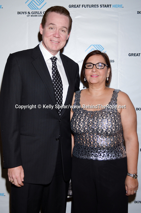 NBC's John Morales and Carmen Morales attend The Boys and Girls Club of Miami Wild About Kids 2012 Gala at The Four Seasons, Miami, FL on October 20, 2012