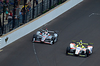 Verizon IndyCar Series<br /> Indianapolis 500 Race<br /> Indianapolis Motor Speedway, Indianapolis, IN USA<br /> Sunday 28 May 2017<br /> Will Power, Team Penske Chevrolet, Ed Jones, Dale Coyne Racing Honda<br /> World Copyright: F. Peirce Williams<br /> LAT Images