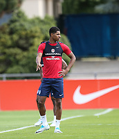 Marcus Rashford (Manchester United) of England during an open England football team training session at Stade Omnisport, Croissy sur Seine, France  on 12 June 2017 ahead of England's friendly International game against France on 13 June 2017. Photo by David Horn/PRiME Media Images.