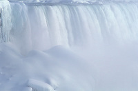 USA, New York, Niagara Falls, American Falls in winter