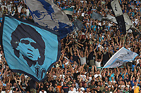 Tifosi napoli Bandiera Maradona. Napoli supporters with Maradona flag <br /> Napoli 16-08-2017 Stadio San Paolo <br /> Napoli - Nice Uefa Champions League 2017/2018 Play Off Foto Andrea Staccioli Insidefoto