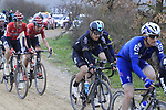 Riders including Michal Kwiatkowski (POL) Team Sky on gravel sector 8 Monte Santa Maria during the 2017 Strade Bianche running 175km from Siena to Siena, Tuscany, Italy 4th March 2017.<br /> Picture: Eoin Clarke | Newsfile<br /> <br /> <br /> All photos usage must carry mandatory copyright credit (&copy; Newsfile | Eoin Clarke)