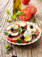 Buffalo mozerella and tomato salad