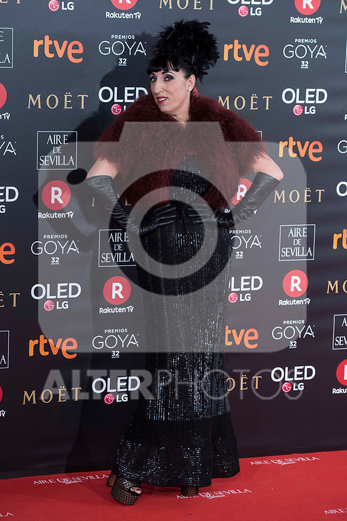 Rossy de Palma attends red carpet of Goya Cinema Awards 2018 at Madrid Marriott Auditorium in Madrid , Spain. February 03, 2018. (ALTERPHOTOS/Borja B.Hojas)