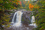 Pattison State Park, WI<br /> Little Manitou Falls on the black river in early autumn