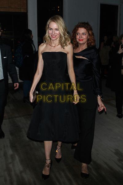 NEW YORK, NY - FEBRUARY 14: Naomi Watts and Susan Sarandon at Zac Posen a/w 2017 Fashion Show at Laight Street on February 14, 2017 in New York City. <br /> CAP/MPI99<br /> &copy;MPI99/Capital Pictures