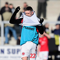 Fleetwood Town's Ashley Hunter during the pre-match warm-up<br /> <br /> Photographer Chris Vaughan/CameraSport<br /> <br /> The EFL Sky Bet League One - Saturday 23rd February 2019 - Burton Albion v Fleetwood Town - Pirelli Stadium - Burton upon Trent<br /> <br /> World Copyright © 2019 CameraSport. All rights reserved. 43 Linden Ave. Countesthorpe. Leicester. England. LE8 5PG - Tel: +44 (0) 116 277 4147 - admin@camerasport.com - www.camerasport.com