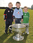 Sam Maguire cup at Newtown Blues GAA club. Photo: Colin Bell/pressphotos.ie