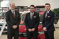 Vertu Honda dealership Nottingham. Pictured from left are Anthony Curry, Chris Duggen and Mark Whitehead